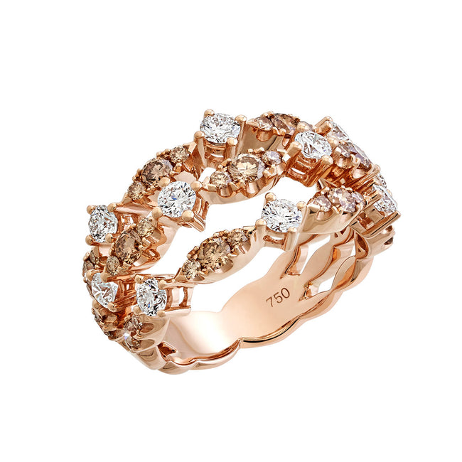 Rose Diamonds Dress Ring
