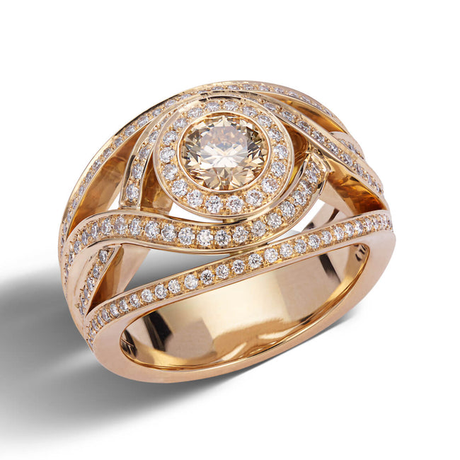 0.70ct Champagne Diamond Dress Ring
