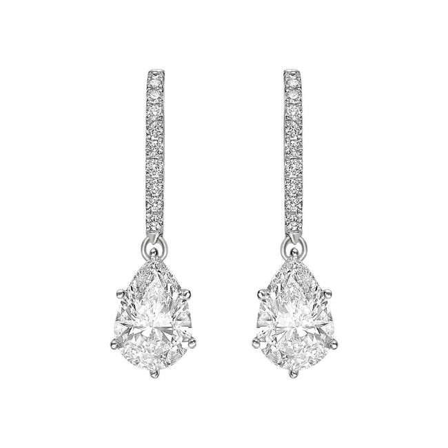 Diamond Drop Earrings 2.20ct