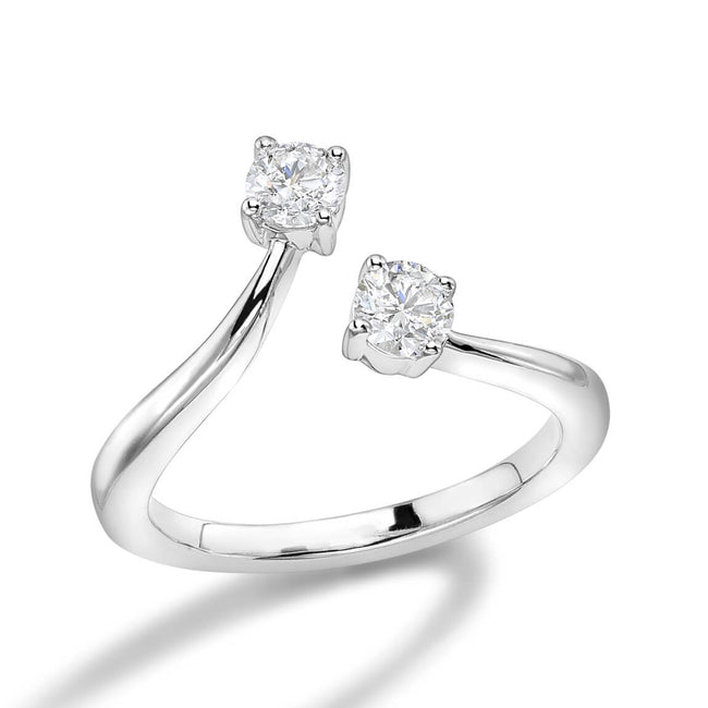 Diamonds 0.52ct Open Style Dress Ring