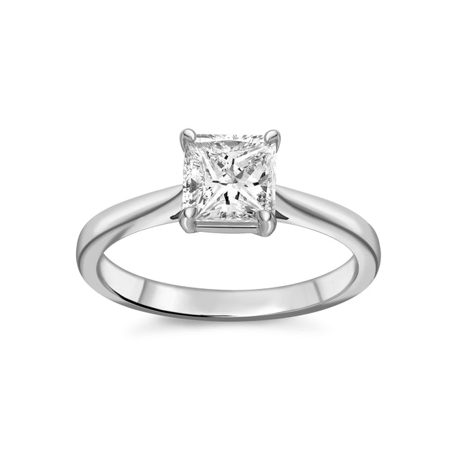 1.01ct Princess Cut Diamond Ring