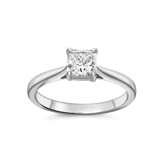 0.70ct Princess Cut Diamond Ring