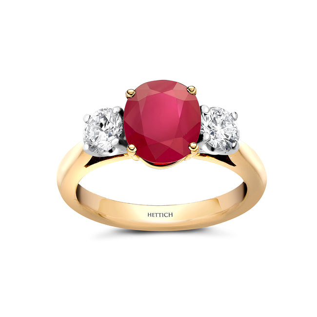 Ruby 2.15ct and Diamonds Ring