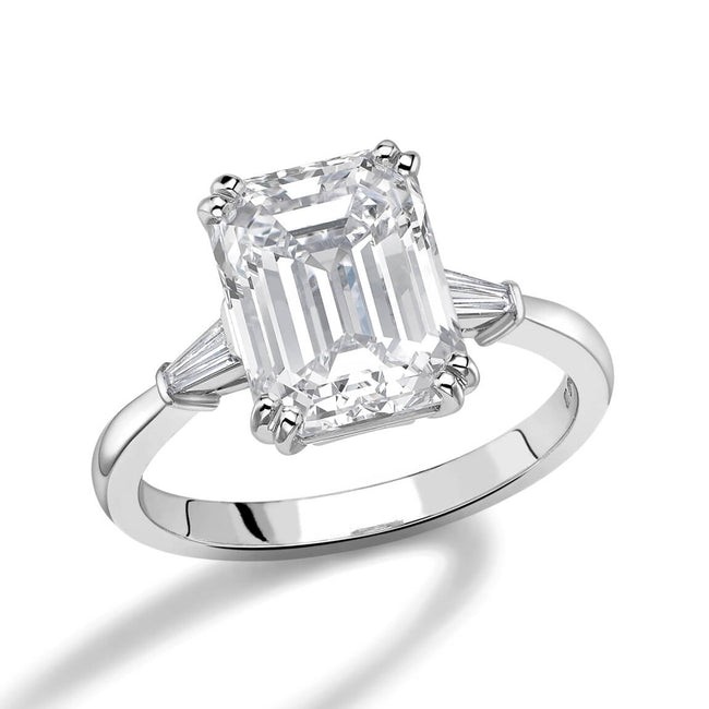 4.03ct Emerald Cut Diamond Ring