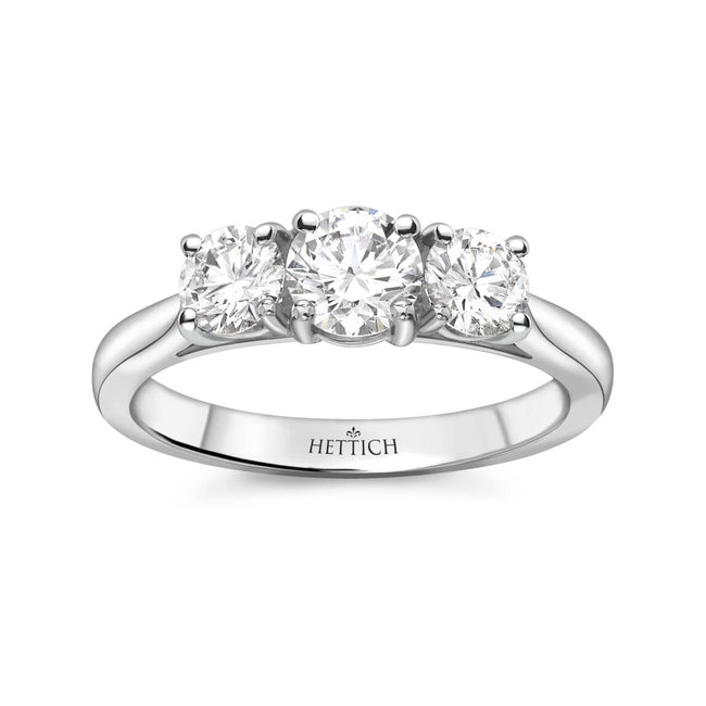 1.04ct Round Brilliant Cut Diamonds Three Stone Ring