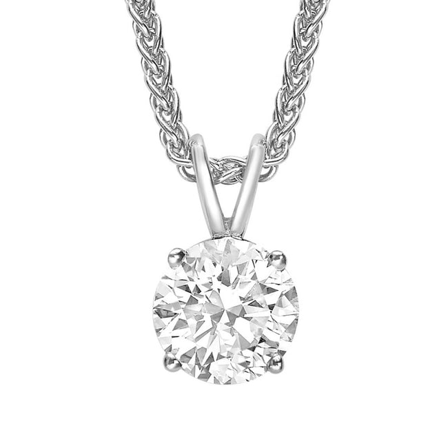 Round Brilliant Cut Diamond 0.80ct Pendant