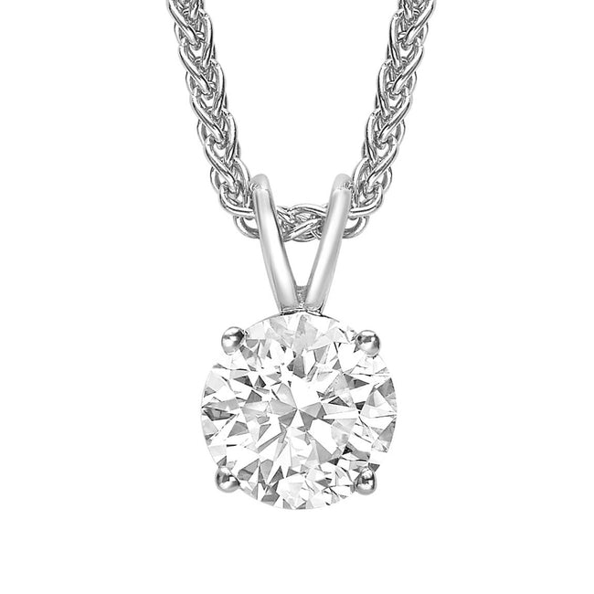 Round Brilliant Cut Diamond 1.56ct Pendant