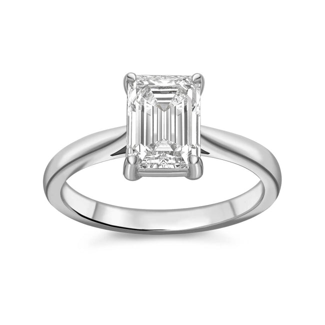 1.01ct Emerald Cut Diamond Ring