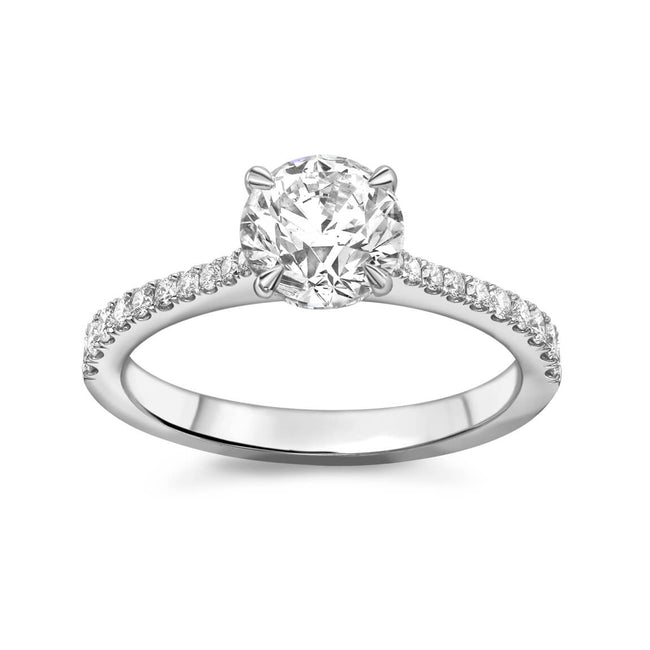 0.71ct Round Brilliant Cut Diamond Ring