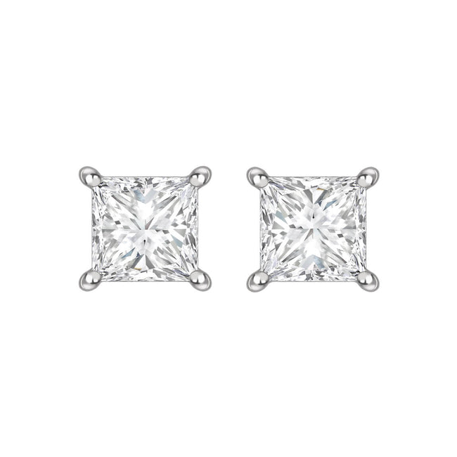 Princess Cut Diamond 1.01ct Earrings