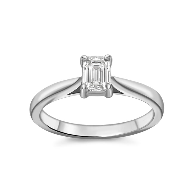 0.46ct Emerald Cut Diamond Ring