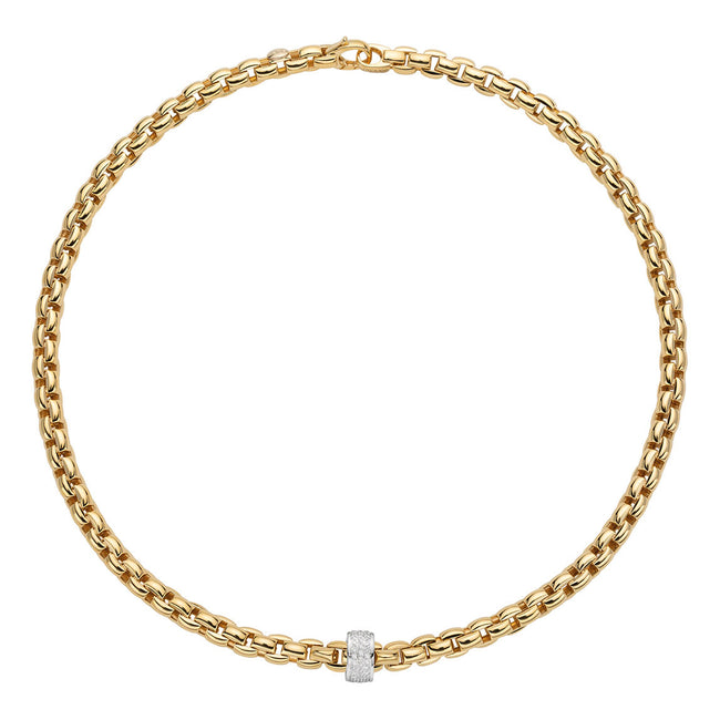 Fope Eka Necklace 604C PAVE