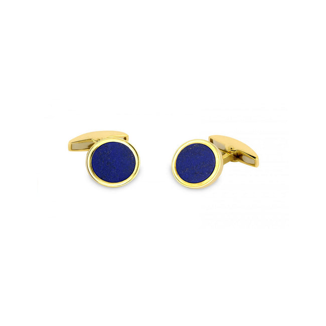 Deakin & Francis 18ct Gold Cufflinks With Lapis Lasuli Inlay