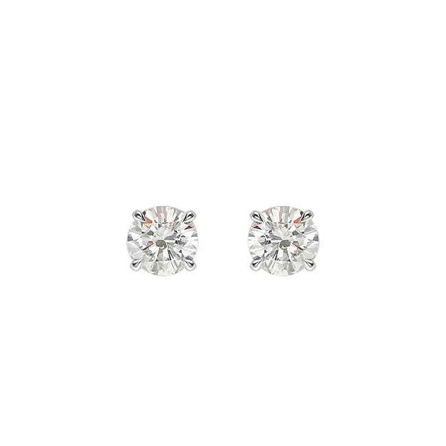 Round Brilliant Cut Diamond 0.50ct Stud Earrings