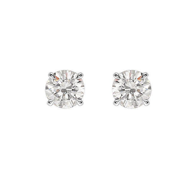Round Brilliant Cut Diamond 1.00ct Stud Earrings