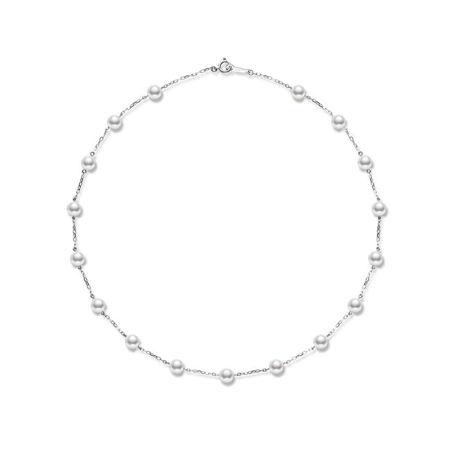 Mikimoto Pearl Chain Necklace