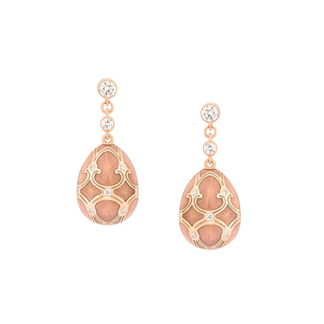 Fabergé Palais Tsarskoye Selo Rose Earrings