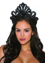Hair Piece Black Glitter