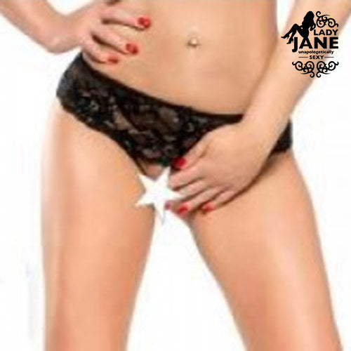 Stella G String Crotchless s | Black