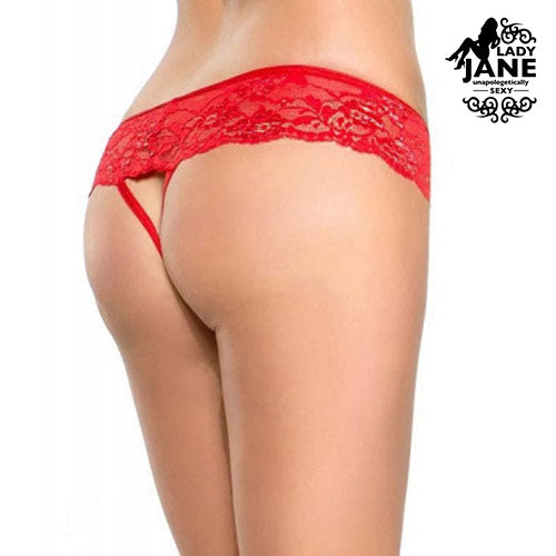 G String Crotchless Stella S | Red