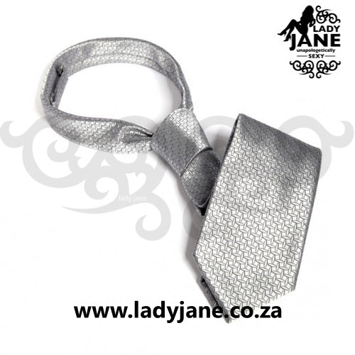 Fifty Shades of Grey Christian Grey Handcuff Tie | Silver