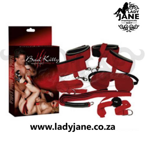 Bondage Set Bad Kitty  - 8 Piece Red