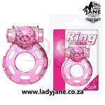 Cock Ring Vibra Hole Butterfly Pink
