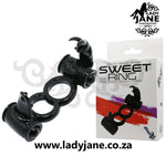 Double Cock Ring Sweet Ring Rabbit Baile | Black