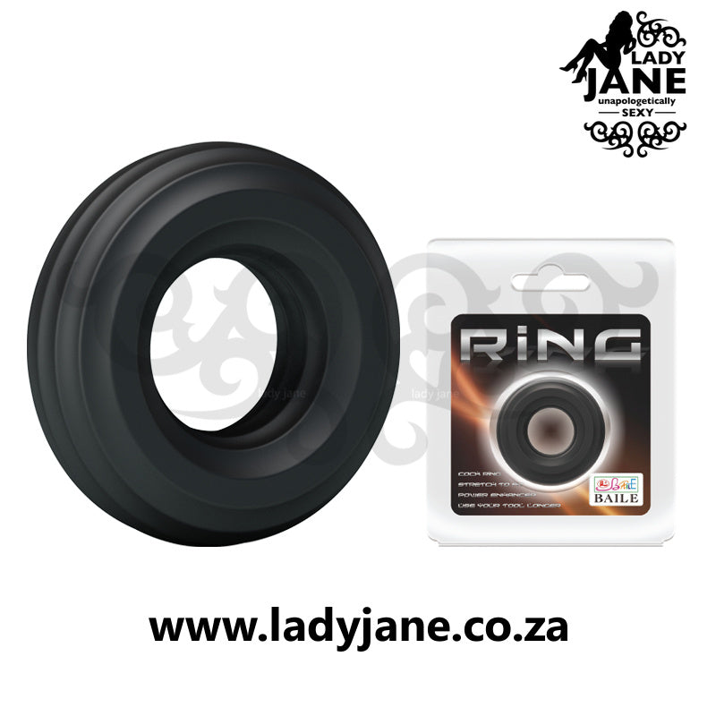 Cock Ring Baile - Black (43mm x 43mm)