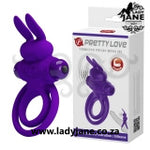 Vibrating Cock Ring Pretty Love - Rabbit 3 Purple