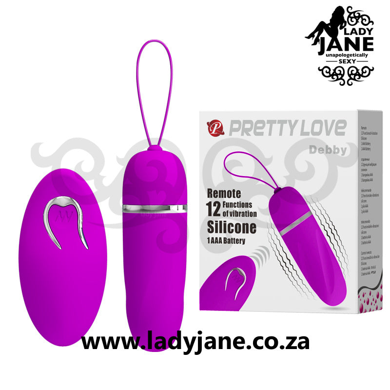Vibrator Remote Control Egg Pretty Love - Debby