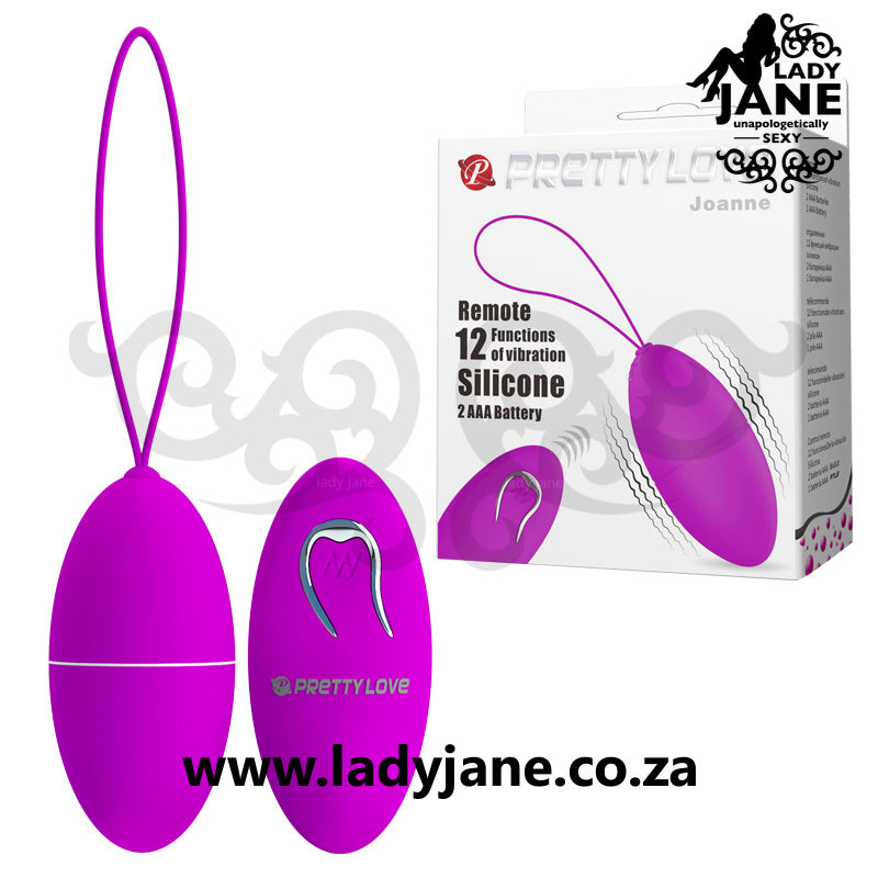 Vibrator Remote Control Egg Pretty Love - Joanne