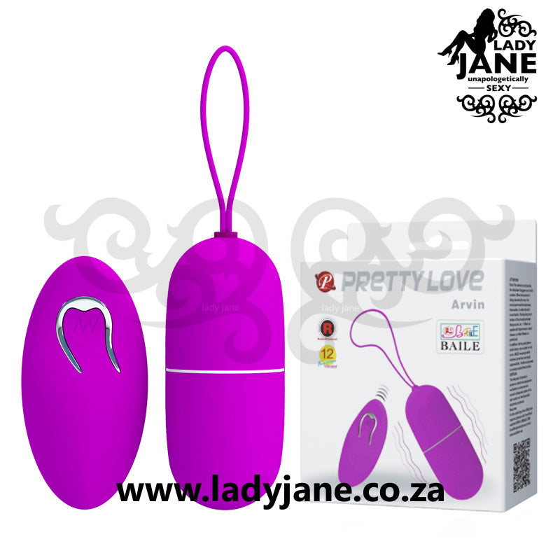 Vibrator Remote Control Egg Pretty Love - Arvin