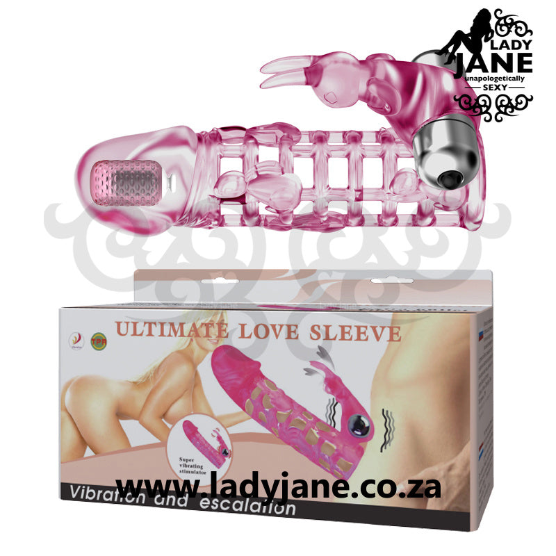 Penis Sleeve Baile - Ultimate Love With Vibrator Rabbit (2 Bullets)