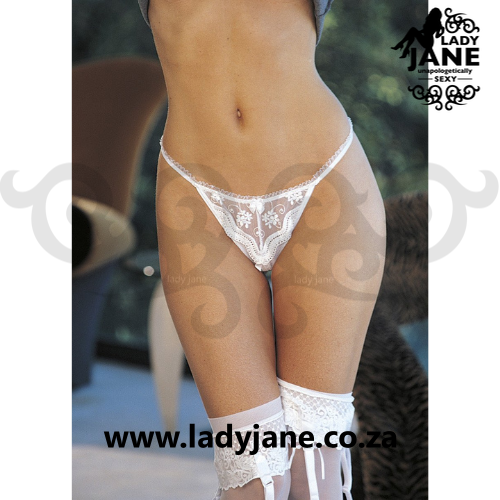 G String White Open Front