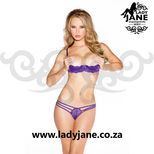 G String Purple Lace