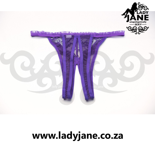 G String Purple Open Front