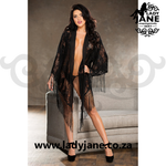 Gown Short Black Lace S