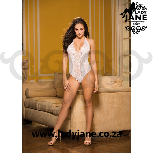 Bodystocking White Fishnet