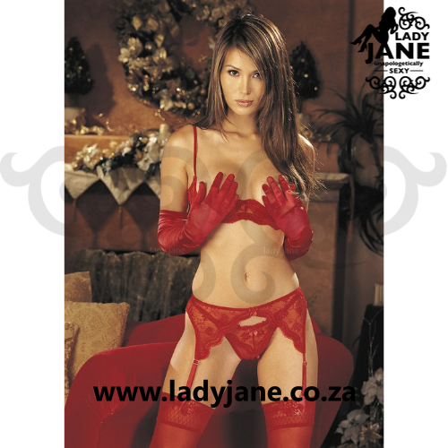 Suspender Belt Red