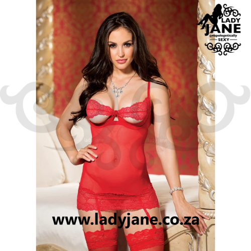 Chemise Red with Garter M