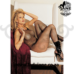 Bodystocking Black Fishnet Halter tie