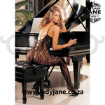 Bodystocking Black Criss Cross Back