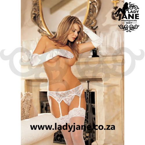 Suspender White & G String