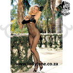 Bodystocking Black Halter Open front