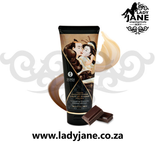 Shunga Edible Massage Cream Intoxicating Chocolate (200ml) Explore: carrier oil for massage, massage oil stores near me, ladies body massage oil, edible thong amazon, edible underwear, edible underpants, baby oil as massage oil, massage oil shoppers, raindrop oils, sexy edible underwear, eating edible panties, edible thong amazon, weleda massage oil, scalp massage for natural hair growth