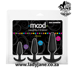 Mood Naughty 1 Silicone Anal Trainer Set 3Pk - Black Explore: best woman sex toy, booty lube, permanent butt plug, best anal toys for beginners, body anal bleach gel, anul beads, sex toy distribution, anal numbing lubricant, best mens prostate massager, we vibe anal, xxl anal toys, thrusting prostate massager, buy dildo near me, fur tail butt plug, anal lubricant
