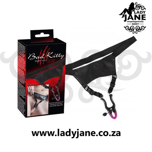 Labia Clamps Bad Kitty - With Panty Black