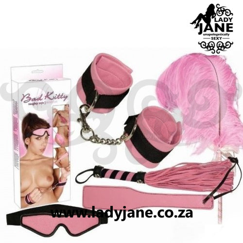 Bondage Set Soft Fetish - 5 Piece Pink