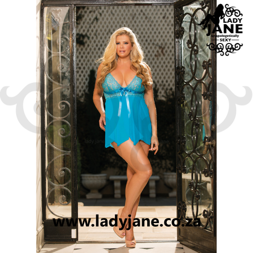 Babydoll Turquoise Stretch
